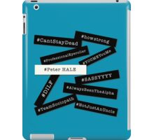 Hashtag Peter - Black & White iPad Case/Skin