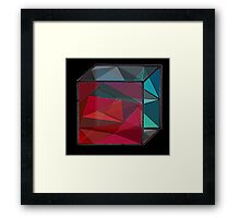 Glass Cube Framed Print