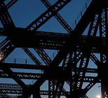 Story Bridge up close, Brisbane by Anja Fuechtbauer