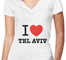 i love Tel Aviv Women's Fitted V-Neck T-Shirt