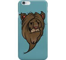 Grumpy lion iPhone Case/Skin