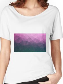 Geometric Triangle Cliffside Purple Women's Relaxed Fit T-Shirt