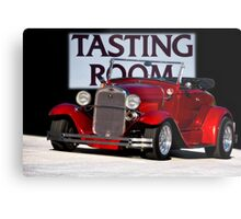 1930 Ford Model A Roadster 'Tasting Room' Metal Print