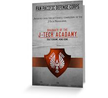 J-Tech Acadamy Graduate Certificate  Greeting Card