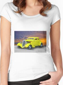 1934 Ford 'Chopped Top' Coupe III Women's Fitted Scoop T-Shirt