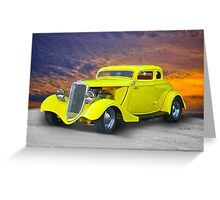 1934 Ford 'Chopped Top' Coupe III Greeting Card