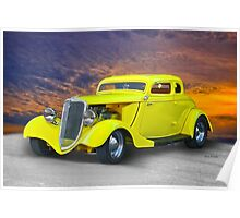 1934 Ford 'Chopped Top' Coupe III Poster