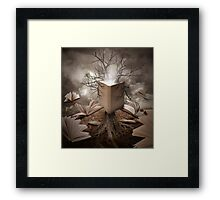 Magical Old Nature Tree Reading Books Framed Print