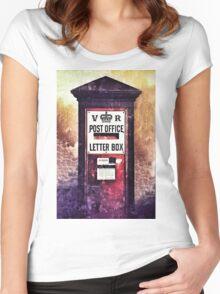 Victorian Pillar Box Women's Fitted Scoop T-Shirt