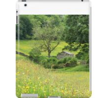 Dales barn and flower meadow iPad Case/Skin