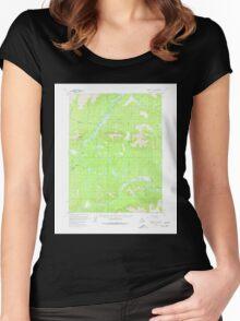 USGS TOPO Map Alaska AK Wiseman A-1 360440 1970 63360 Women's Fitted Scoop T-Shirt