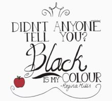 Black is my colour (black font, English spelling) Kids Tee