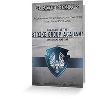 Strike Group Acadamy Graduate Certificate  Greeting Card