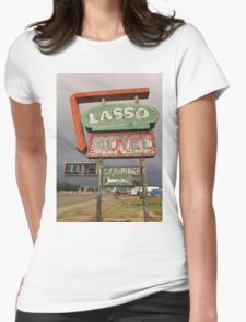 Lasso Motel Womens Fitted T-Shirt