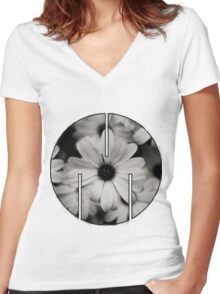 MSFTS + FLWRS Women's Fitted V-Neck T-Shirt
