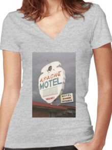 Apache Motel Women's Fitted V-Neck T-Shirt