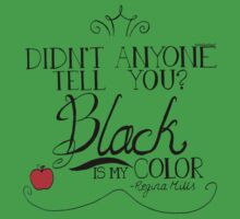 Black is my color (black font, American spelling) One Piece - Short Sleeve
