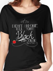 Black is my color (white font, American spelling) Women's Relaxed Fit T-Shirt
