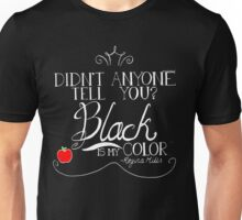 Black is my color (white font, American spelling) Unisex T-Shirt