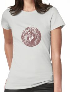 MOON PRINT  apollo 11 Womens Fitted T-Shirt