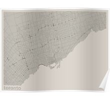 Minimal Maps - Toronto - Light Poster