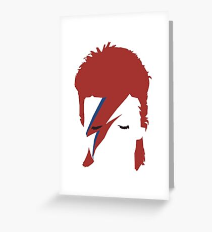 David bowie T-shirt - red hair  Greeting Card