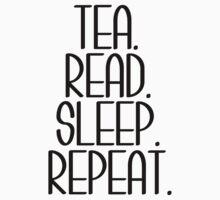 Tea Read Sleep Repeat Kids Tee