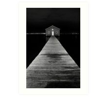Boat Shed at Night Art Print