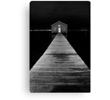 Boat Shed at Night Canvas Print
