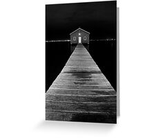 Boat Shed at Night Greeting Card