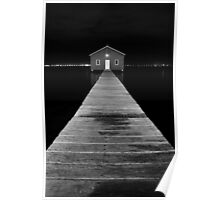 Boat Shed at Night Poster