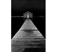 Boat Shed at Night Photographic Print