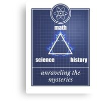 Big Bang Theory - Math, science, history, unraveling the mystery, Canvas Print