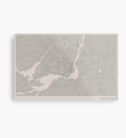 Minimal Maps - Montreal - Light Metal Print