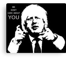 Boris Johnson says what he thinks Canvas Print