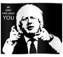 Boris Johnson says what he thinks Poster