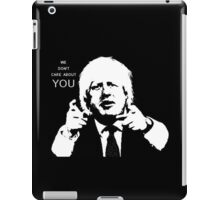 Boris Johnson says what he thinks iPad Case/Skin