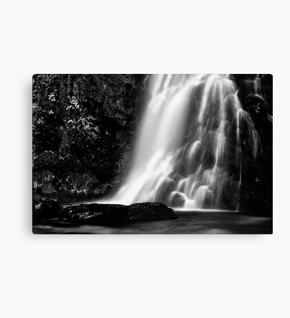 Palfau Waterfall bw Canvas Print