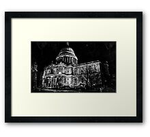 St. Paul's Cathedral, London, at Night Framed Print