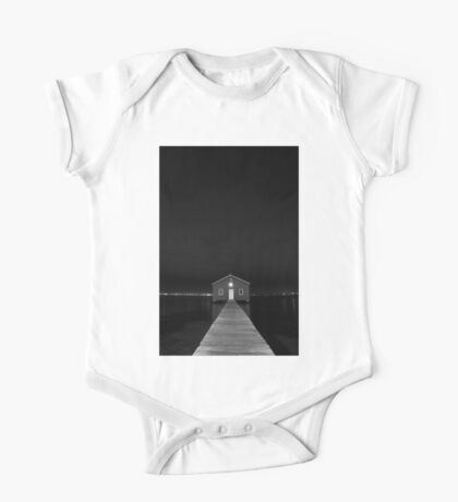 Crawley Edge Boat Shed at Night One Piece - Short Sleeve