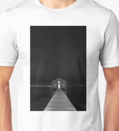 Crawley Edge Boat Shed at Night Unisex T-Shirt