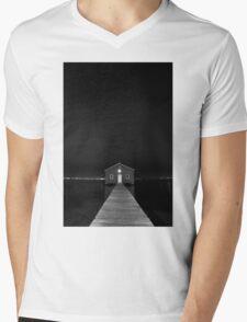 Crawley Edge Boat Shed at Night Mens V-Neck T-Shirt