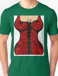 Red Paisley Corset Unisex T-Shirt