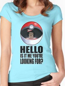 Pokemon go , is it me you're looking for? Women's Fitted Scoop T-Shirt