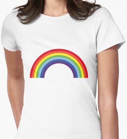 Rainbow / Arc-En-Ciel / Arcoíris / Regenbogen (7 Colors) Womens Fitted T-Shirt