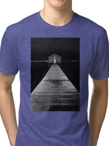 Boat Shed at Night Tri-blend T-Shirt