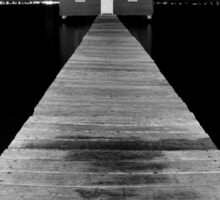 Boat Shed at Night Sticker