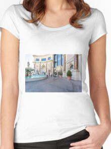 USA, Nevada, Las Vegas, the Forum Shops Women's Fitted Scoop T-Shirt