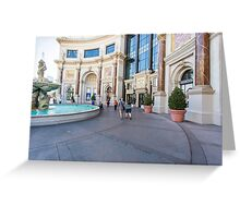 USA, Nevada, Las Vegas, the Forum Shops Greeting Card