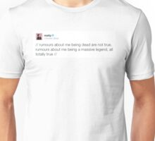 Matty Healy Legendary Tweet Unisex T-Shirt